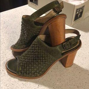 Frye Sofia Woven Sling Sandals
